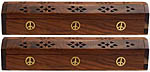 (2-PACK) Coffin Burners: Peace Symbol Inlay